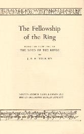 The Fellowship of the Ring - Deluxe Edition 1964 - Title Page