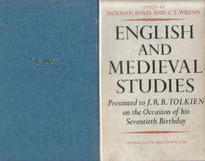 English and Medieval Studies.Allen & Unwin. 1962.