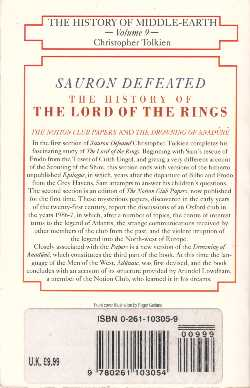 Sauron Defeated, 1993 PB - New price added on label