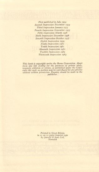 Vol.1 - Verso of Title Page