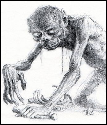 Gollum by Alan Lee (1997)