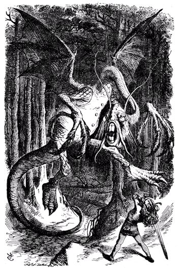 The Jabberwock by John Tenniel
