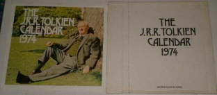 The J.R.R. Tolkien Calendar 1974. Issued in a card mailing envelope.