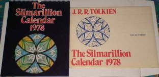 The Silmarillion Calendar 1978. Issued in a card mailing envelope.