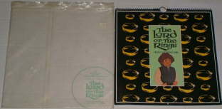 The Lord of the Rings Film Calendar 1980. Issued in a clear cellophane envelope.