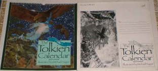 The 1986 Tolkien Calendar. Issued in a card mailing envelope.