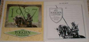 The 1987 Tolkien Calendar. Issued in a card mailing envelope.