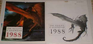 The Tolkien Calendar 1988. Issued in a card mailing envelope.