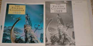 The Tolkien Calendar 1989. Issued in a card mailing envelope.