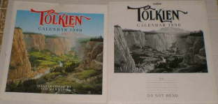 Tolkien Calendar 1990. Issued in a card mailing envelope, although some copies may have been issued shrink-wrapped.
