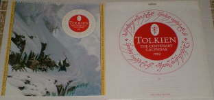 Tolkien - The Centenary Calendar 1992. Issued in a card mailing envelope.