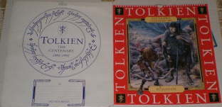 The Tolkien Calendar 1993. Issued in a card 