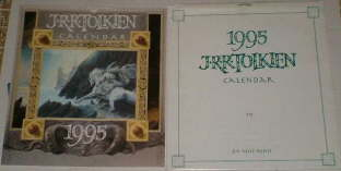 1995 J.R.R. Tolkien Calendar. Issued in a card mailing envelope.