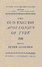 Old English Apollonius of Tyre. 1958. Hardback in dustwrapper.