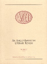 VII: An Anglo-American Literary Review. 2000. Paperback journal.