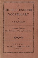 Middle English Vocabulary. 1925. Paperback.