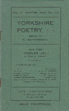 Yorkshire Poetry. 1923. Booklet.