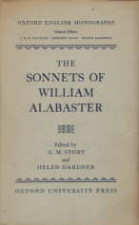 Sonnets of William Alabaster. 1959. Hardback in dustwrapper.
