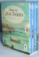 Poems by J.R.R. Tolkien. 1993. Miniature hardbacks. Issued in a slipcase.